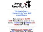 THE MAGIC TEXTS : SMS ROMANTIQUES MAGNETIQUES