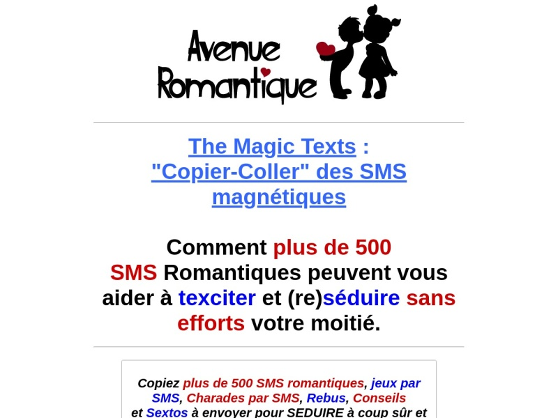 the magic texts : sms romantiques magnetiques