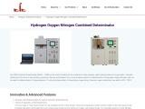 manufacturers of hydrogen oxygen nitrogen analysers in india