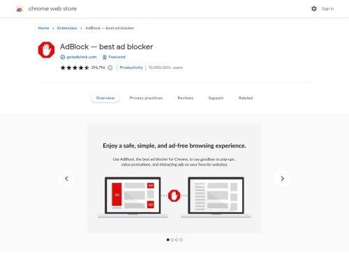 Chrome ウェブストア - AdBlock