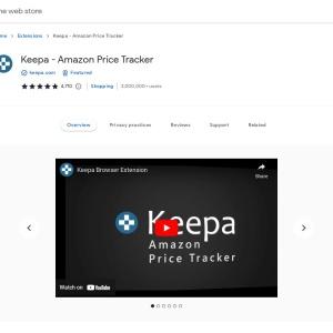 Keepa - Amazon Price Tracker - Chrome ウェブストア