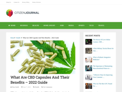 What Exactly are CBD Capsules and How Can You Benefit