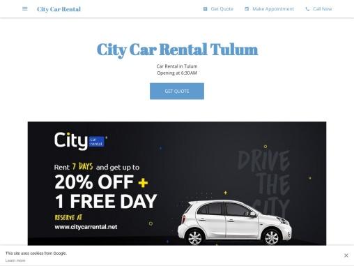 City Car Rental Tulum | Rent A Car in Tulum, Mexico