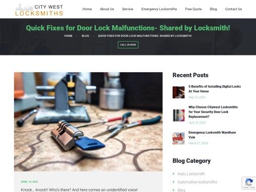 Quick Fixes for Door Lock Malfunctions – Locksmiths Melbourne