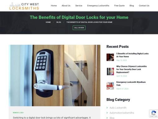 Benefits of Digital Door Locks Installation