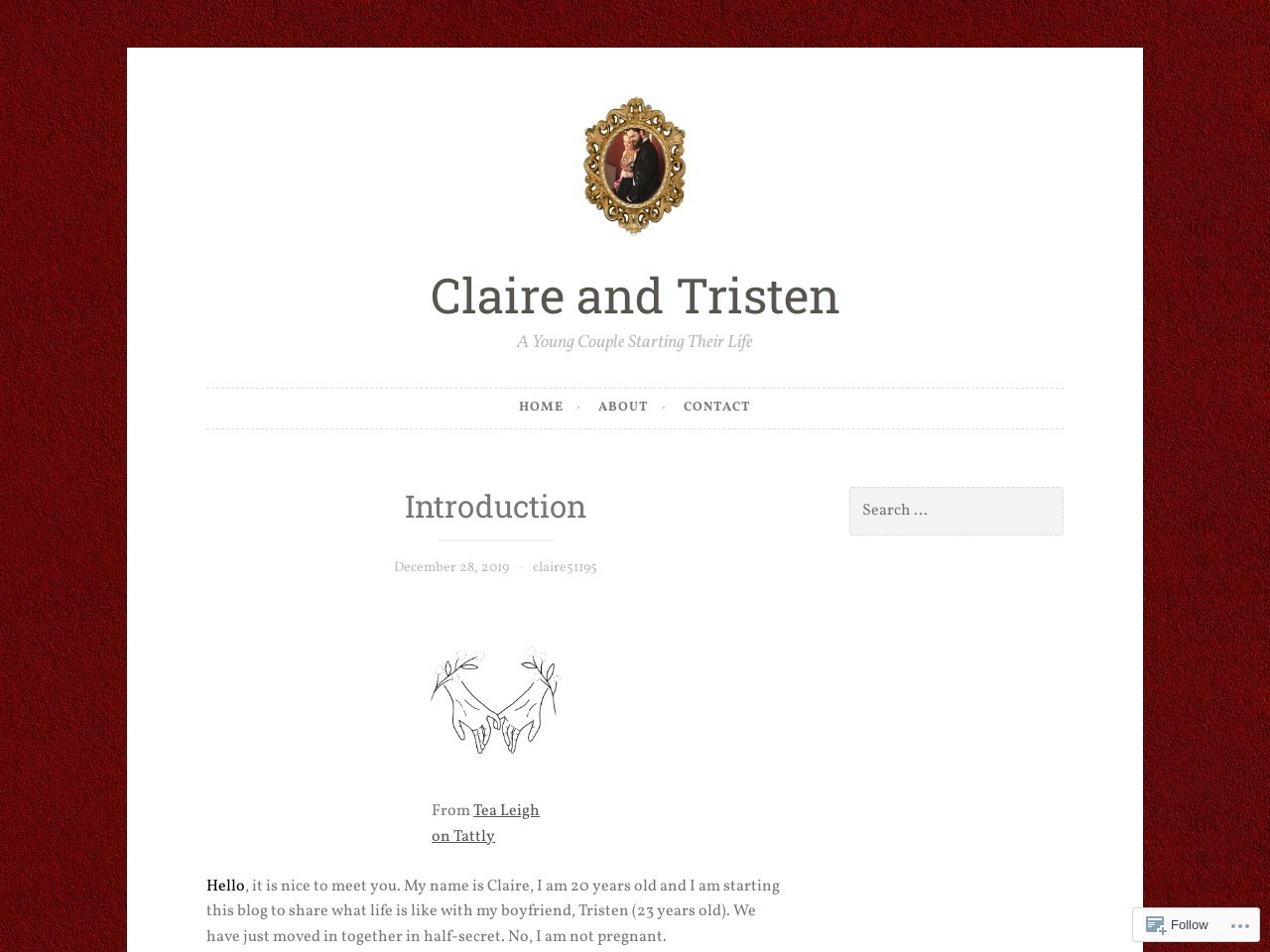 Introduction – Claire and Tristen