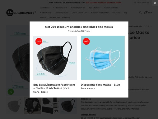 Quality black surgical face masks