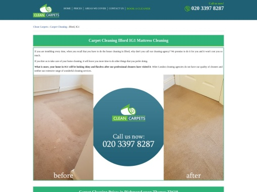 Carpet Cleaning Ilford IG1 Mattress Cleaning
