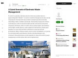 A Quick Scenario of Electronic Waste Management