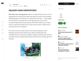 squander waste administration and dispose