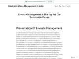 E-waste Management Is The Key For Our Sustainable Future