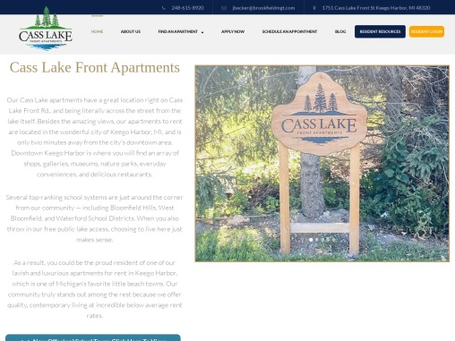 Cass Lake Front Apartments – Keego Harbor Apartments