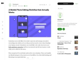 A Mobile Photo Editing Workflow that Actually Works