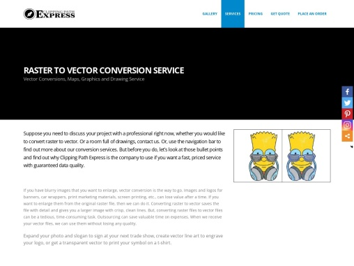 Raster to Vector Conversion Services