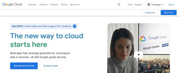 screenshot of Google Cloud Platform