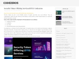 STO (Security Token Offering) Services