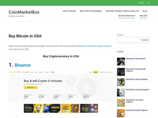 Buy Bitcoin in USA   CoinMarketBox.com