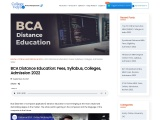 BCA Distance Education Course, Syllabus, Colleges, Eligibility and Career Options