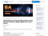 Distance Learning BA Political Science Course, Admission, Syllabus, Colleges, Eligibility and Career