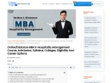 Distance MBA in Hospitality Management – Course, Admission, Syllabus, Colleges, Eligibility and Care