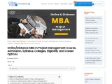 Distance MBA In Project Management Course, Admission, Syllabus, Colleges, Eligibility and Career Opt