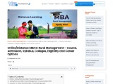 Distance MBA In Rural Management – Course, Admission, Syllabus, Colleges, Eligibility and Career Opt