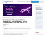 """""""Distance MBA Airport and Airline Management – Course, Admission, Syllabus, Colleges, Eligibility an"""