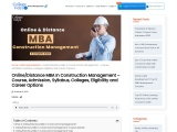 Distance MBA In Construction Management – Course, Admission, Syllabus, Colleges, Eligibility and Car