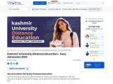 Kashmir University Distance Education: Courses, Fee Structure, Admission 2021 [Detailed Info]