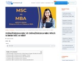 Distance MSc VS Distance MBA: Which Is Better MSC or MBA?
