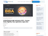 Online/Distance BBA Admission 2021 – Process, Dates, Eligibility, Fees, Application, Apply Here
