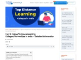 Top 10 Distance Learning Colleges/Universities In India – Detailed Information