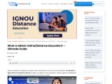 What Is IGNOU Distance Education? – Ultimate Guide 2021