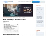 MCA Lateral Entry – Ultimate Guide 2021