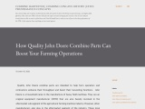 How Quality John Deere Combine Parts Can Boost Your Farming Operations