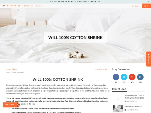 Does 100 Cotton Shrink or not?