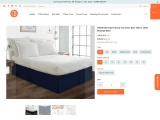 Enhanced Your Bedroom With Navy Blue Bed Skirt