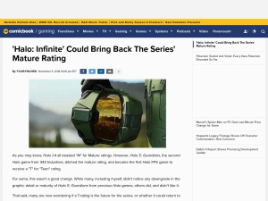 'Halo: Infinite' Could Bring Back The Series' Mature Rating