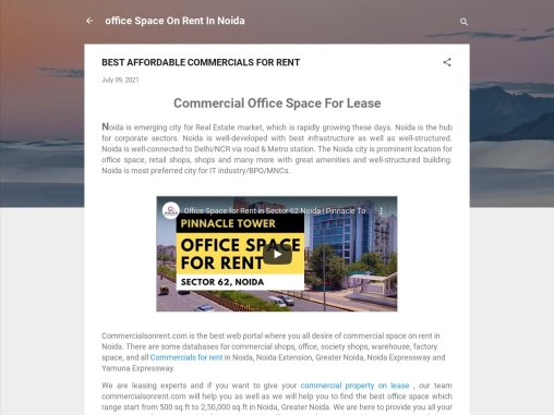 Best Affordable Commercials Office Space For rent/Lease