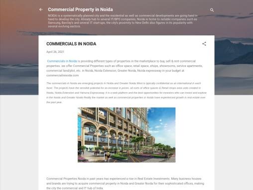 Buy office spaces in Commercials in Noida
