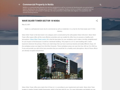 Wave Silver Tower office space, Noida