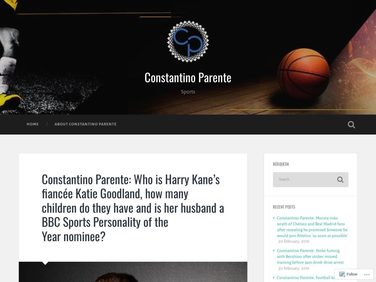 Constantino Parente: Who is Harry Kane's fiancée Katie Goodland, how…