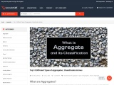Top 10 Different Types of Aggregates | Classification & Uses
