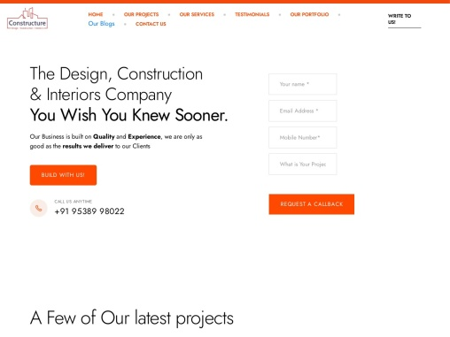 One stop for you Design, Construction and Architecture needs   Constructure
