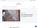 Building Foundation- The Complete Guide | Constructure