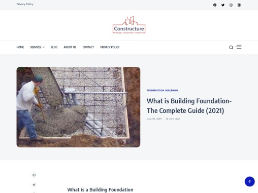 Building Foundation- The Complete Guide   Constructure