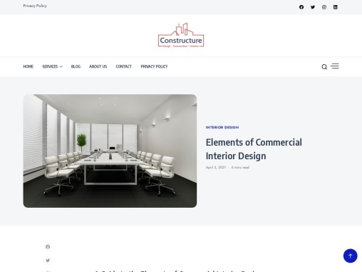 Elements of Commercial Interior Design| Constructure