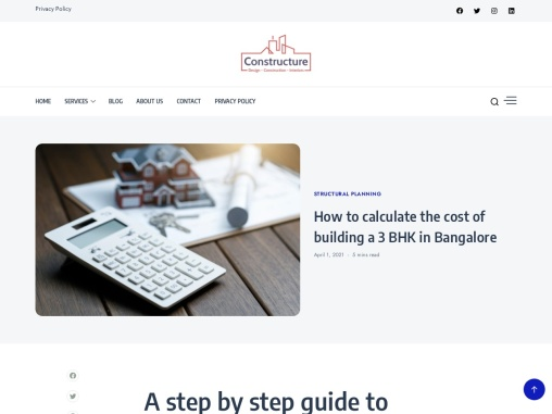 How should you calculate the cost of building a 3 BHK in Bangalore | Constructure