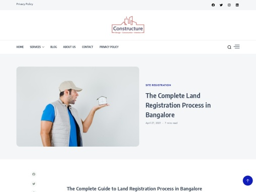 The Complete Land Registration Process for house Construction in Bangalore| Constructure