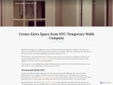 Create Extra Space from NYC Temporary Walls Company